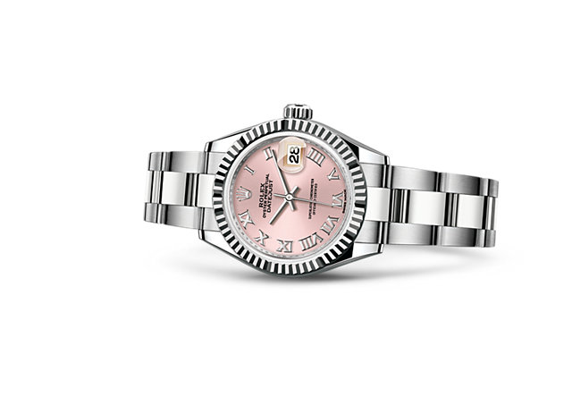 rolex lady datejust 28 watch white rolesor combination of 904l steel and 18 ct white gold. Black Bedroom Furniture Sets. Home Design Ideas